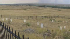 7th Calvary Graves Pan at 25fps Stock Footage