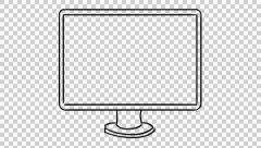 Iteam 1 monitor screen animation with transparent background - stock footage