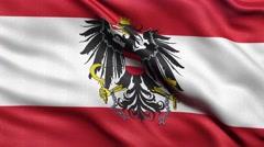 4K Flag of Austria seamless loop Ultra-HD Stock Footage