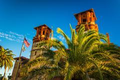 the lightner museum, at flagler college in st. augustine, florida. - stock photo