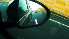 Rear View Mirror , Rainy Day Stock Footage