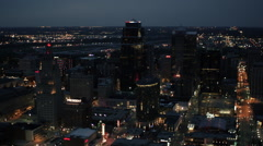 Kansas City After Sunset Stock Footage