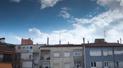 Manresa timelapse sky clouds houses spain Stock Footage