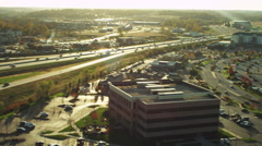 Midwest City Flyover Highway Stock Footage