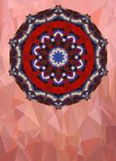 Aquarelle mandala ornament and a lot of copyspace - stock illustration