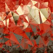 Triangles background with blobs and blots - stock illustration