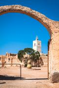 medenine (tunisia) : traditional ksour (berber fortified granary) - stock photo
