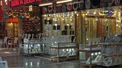 Ephesus Turkey jewelry tourist shopping 4K 037 Stock Footage
