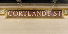 Cortlandt street subway station, new york Kuvituskuvat