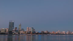 Perth City Skyline in the Early Night Light Stock Footage