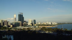 Evening Time Lapse of Perth City 2014 Stock Footage