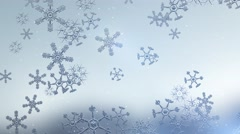 Snow Flakes Falling Animated Festive Abstract Background Stock Footage