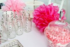 Baby shower decorations - stock photo