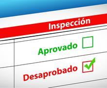 Stock Illustration of inspection results passed or fail