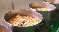 Make the fried pork fiber Stock Footage