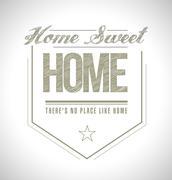 Stock Illustration of home sweet home seal illustration design over white