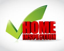 home inspection approval check mark - stock illustration