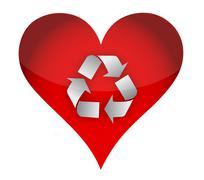Love recycle concept Stock Illustration