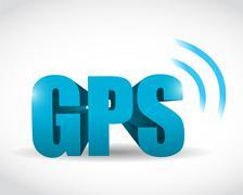Stock Illustration of gps signal concept illustration design