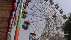 Big swing/Giant wheels Stock Footage