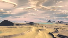 Flight above mountains. 3D animation Stock Footage
