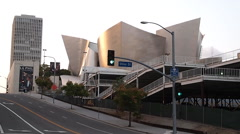 Walt Disney Concert Hall Los Angeles, CA Stock Footage