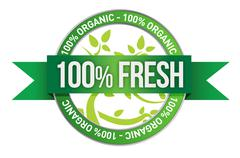 label of fresh concept - stock illustration