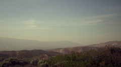 SUPER SLOW MOTION shot of CALIFORNIA HILLS Stock Footage