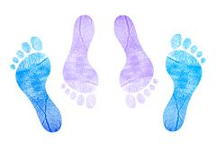 Couple in love facing each other. feet Stock Illustration