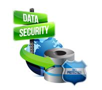 Data security global communications concept Stock Illustration