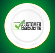 Food customer satisfaction guaranty Stock Illustration