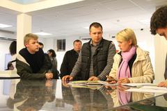 candidate for mayor of khimki opposition evgeniya chirikova writes a complain - stock photo