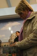 Candidate for mayor of khimki opposition evgeniya chirikova writes a complain Stock Photos