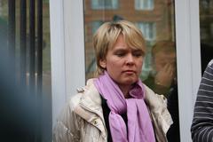 candidate for mayor of khimki opposition leader yevgeniya chirikova - stock photo