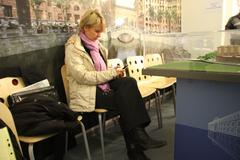 Candidate for mayor of khimki opposition leader yevgeniya chirikova during a Stock Photos