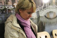 candidate for mayor of khimki opposition leader yevgeniya chirikova during a - stock photo