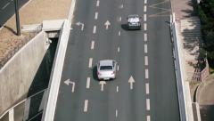 cars traveling on the highway - stock footage