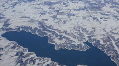Flying over snowcaps on mountains 2 Stock Footage