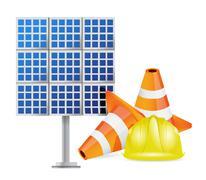 solar panel construction design - stock illustration