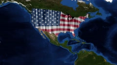 United States of America - USA Map - from space Stock Footage