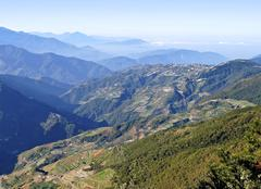 One of the best scenic spot in central Taiwan - stock photo