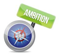 ambition glossy compass - stock illustration