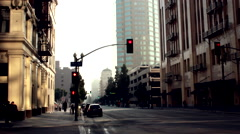 View of Downtown Los Angeles Street Stock Footage