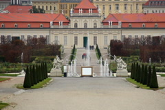 Baroque Garden European architecture, tourist attraction Vienna, click for HD - stock footage