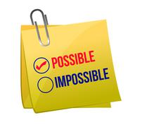 Possible against impossible Stock Illustration
