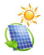 Sustainable solar energy concept Stock Illustration
