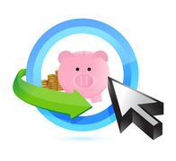 Stock Illustration of selecting savings