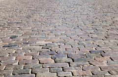 seamless tileable texture of pavers - stock photo