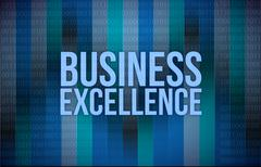 Business excellence words on digital technology Stock Illustration
