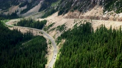 Switchback Road through the North Cascades National Park, 4K - stock footage